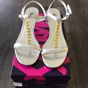 Fioni silver Lilith sandals
